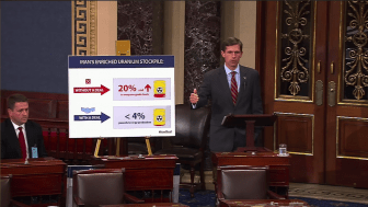Senator Martin Heinrich speaking on the Senate floor about the Iran deal.