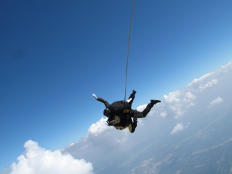 A tandem skydiving pair Photo Credit: Chris Pirillo cc