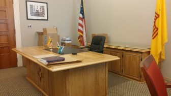 The empty desk of the Secretary of State, taken on December 14. Photo Credit: Joey Peters