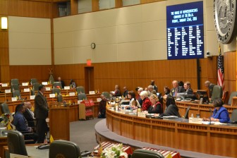 Rep. Paul Pacheco, R-Albuquerque, presents his three strikes bill to the House Regulation and Public Affairs Committee