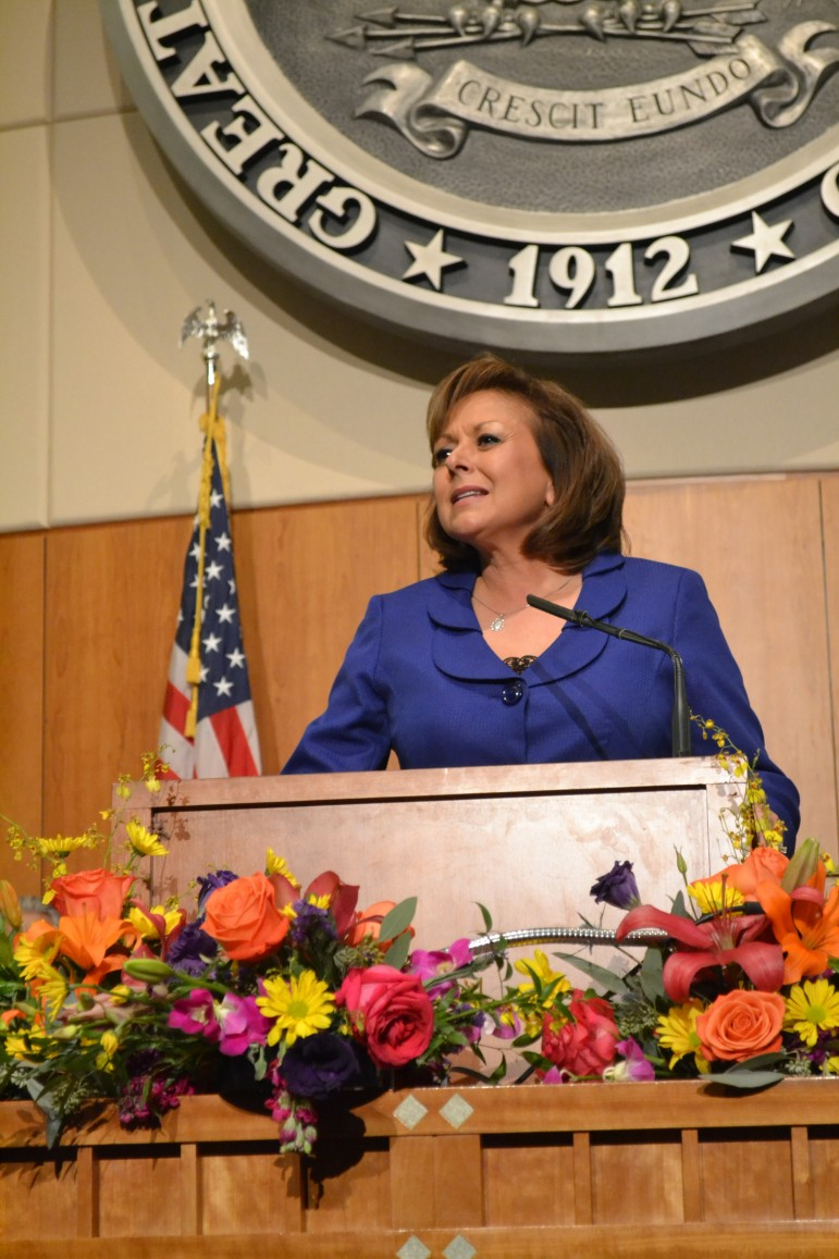 Gov. Susana Martinez during the 2016 Legislative Session. Photo Credit: Andy Lyman.