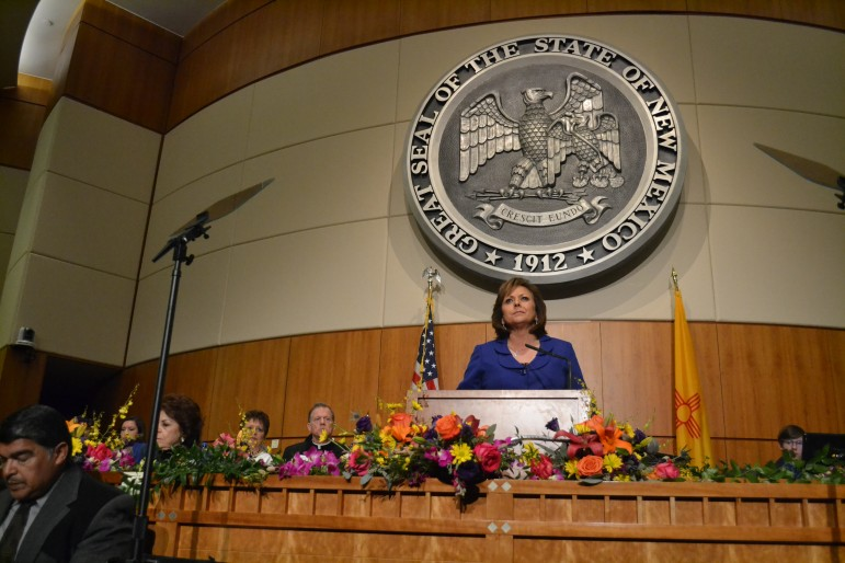 Gov. Susana Martinez during her State of the State Address in 2016. Photo Credit: Andy Lyman.
