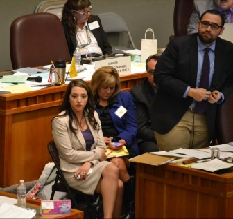 Rep. Sarah Maestas Barnes, R-Albuquerque, and Sen. Jacob Candelaria, D-Albuquerque