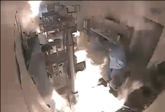 Surveillance video of an explosion at New MexiCann Natural Medicine in July, 2015.
