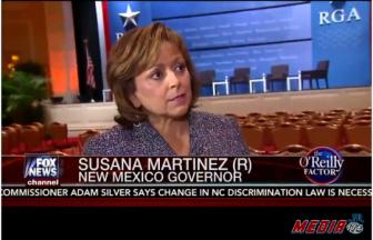 Susana Martinez screenshot from Mediaite video of The O'Reilly Factor