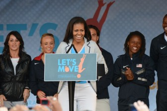 First Lady Michelle Obama hosts Let's Move! Event Photo Credit: US Army IMCOM cc