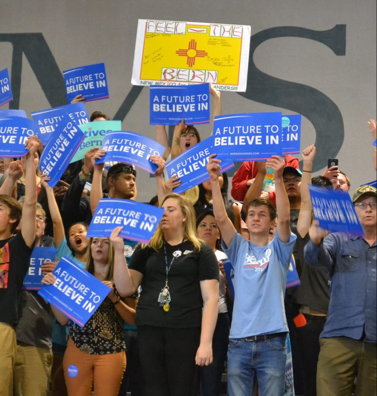 The crowd at a Bernie Sanders rally at the Albuquerque Convention Center in May 2016.