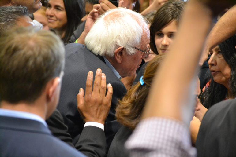 Bernie Sanders after his rally at the Albuquerque Convention Center in May 2016.