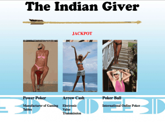 """The Indian Giver Jackpot,"" which appears on Brad Cates' website."