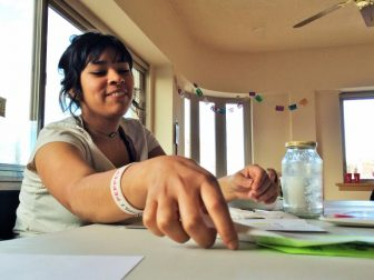 """The environmental group, Juntos, has been working on what it calls """"The Peoples Clean Power Plan."""" Luzero Velasquez is one of the teens who has been canvassing some Albuquerque neighborhoods."""