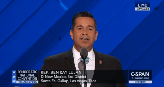 U.S. Rep. Ben Ray Lujan speaking at the 2016 Democratic National Convention