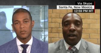 CNN host Don Lemon, left, and Anwar Sanders, right.