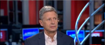 Screenshot of Gary Johnson on Morning Joe.
