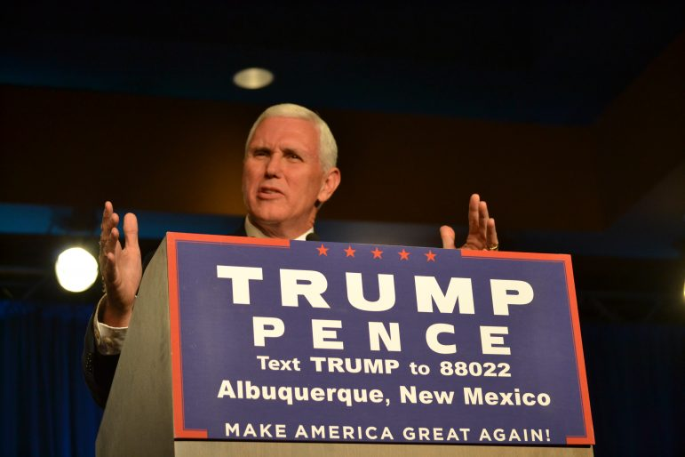 Mike Pence at an Albuquerque rally
