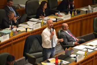 Bill McCamley, D-Las Cruces, during debate on a budget bill during the 2016 special session.