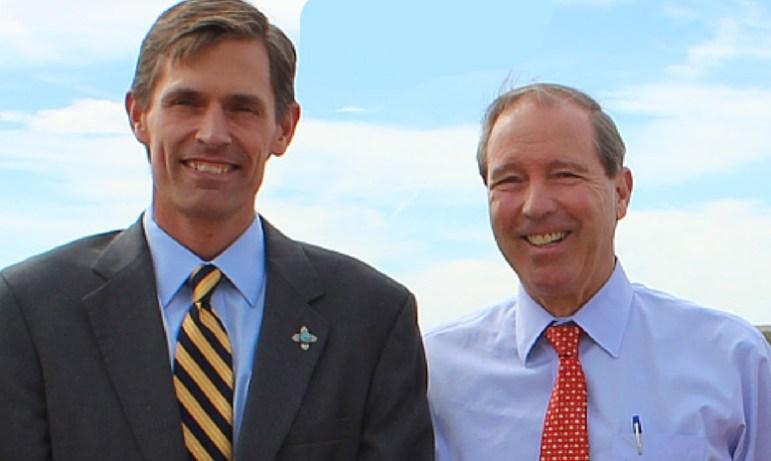 New Mexico Senators Tom Udall (r) and Martin Heinrich (l), both Democrats