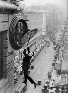 Harold Lloyd runs out of time.