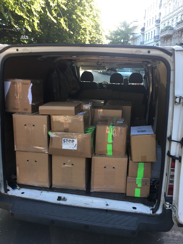 German ECI signatures delivered today to authorities by WeMove.EU