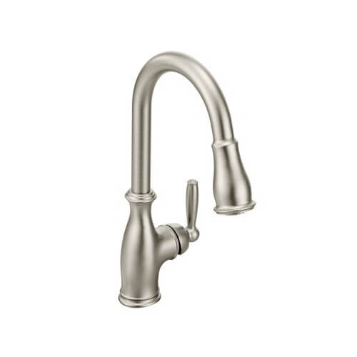 arbor 1 handle high arc pull down kitchen faucet spot resist stainless