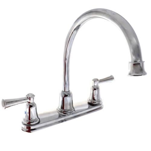 cleveland faucet capstone two handle high arc kitchen faucet chrome