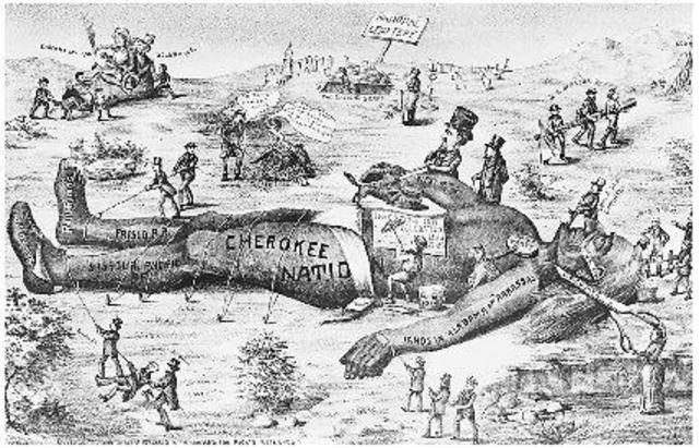 Political Cartoon V Worcester Georgia