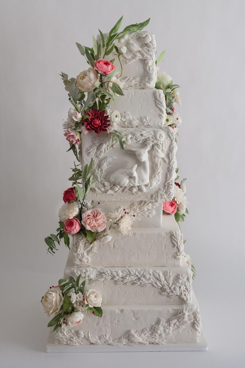 Sugar Flower Cake Design Satin Ice