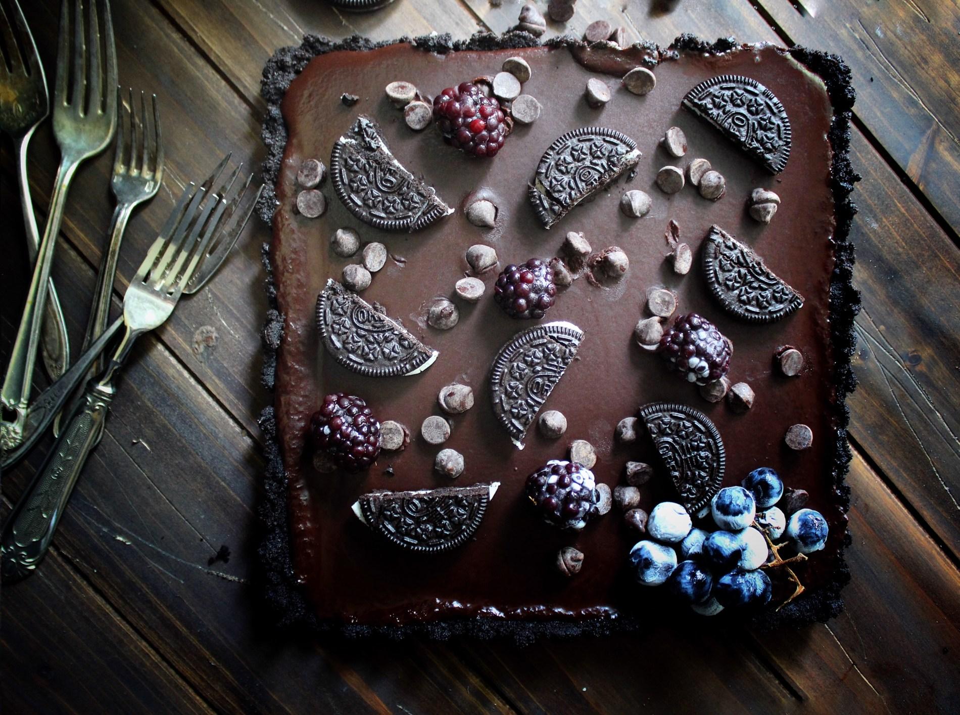 Dark Chocolate Oreo Tart