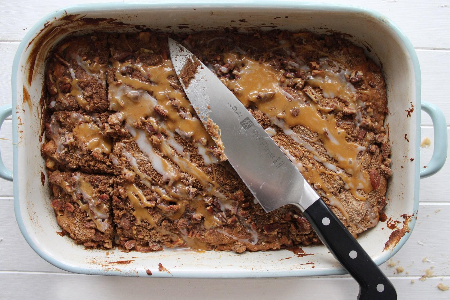 One bowl Apple Pecan Cake