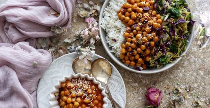 Vegan Sweet & Sour Chickpeas