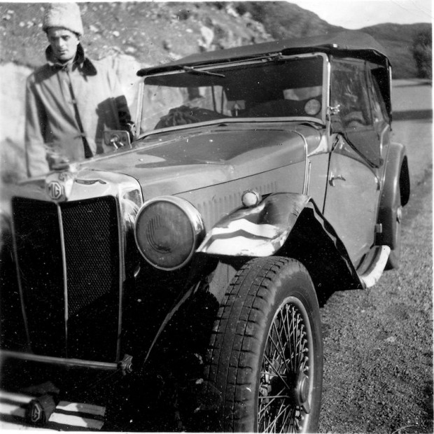 After studying civil engineering at Lehigh University for a year, he dropped out in 1939, hopped a freighter for England and toured the British Isles in an MG.