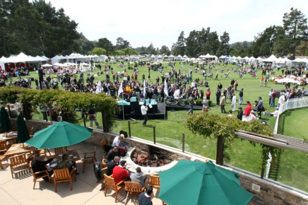 The show field and awards ramp at The Quail Motorcycle Gathering, the third year for this event at The Quail Lodge Golf Club in Carmel, California.