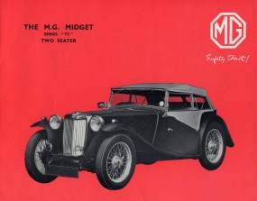 Original MG TC factory brochure cover, 1947