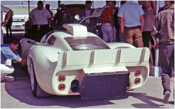 Chaparral 2D in the garage at 1967 24 Hours of Daytona