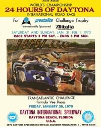 Souvenir race program for the 1970 Daytona 24 Hours.