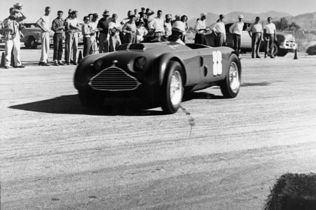Jack McAfee driving John Edgar's MG Special on the airport course at Palm Springs.