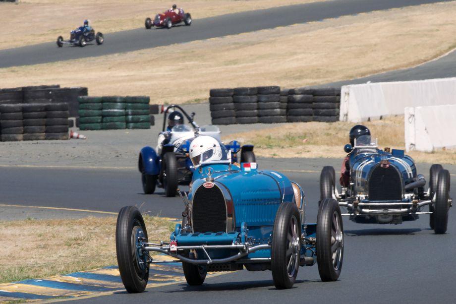 1927 Bugatti 35C driven by Cordell Bahn in turn ten.