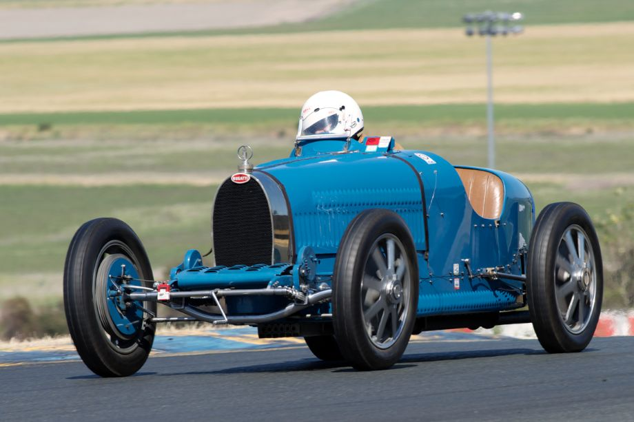 1927 Bugatti 35C driven by Cordell Bahn in two.