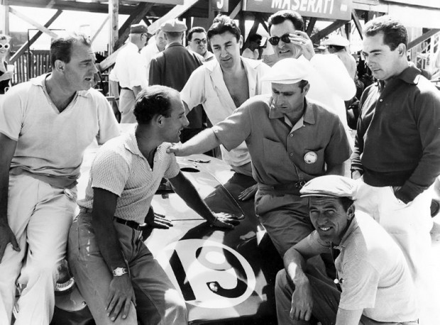 Maserati Factory Team at 1957 Sebring 12 Hours Grand Prix
