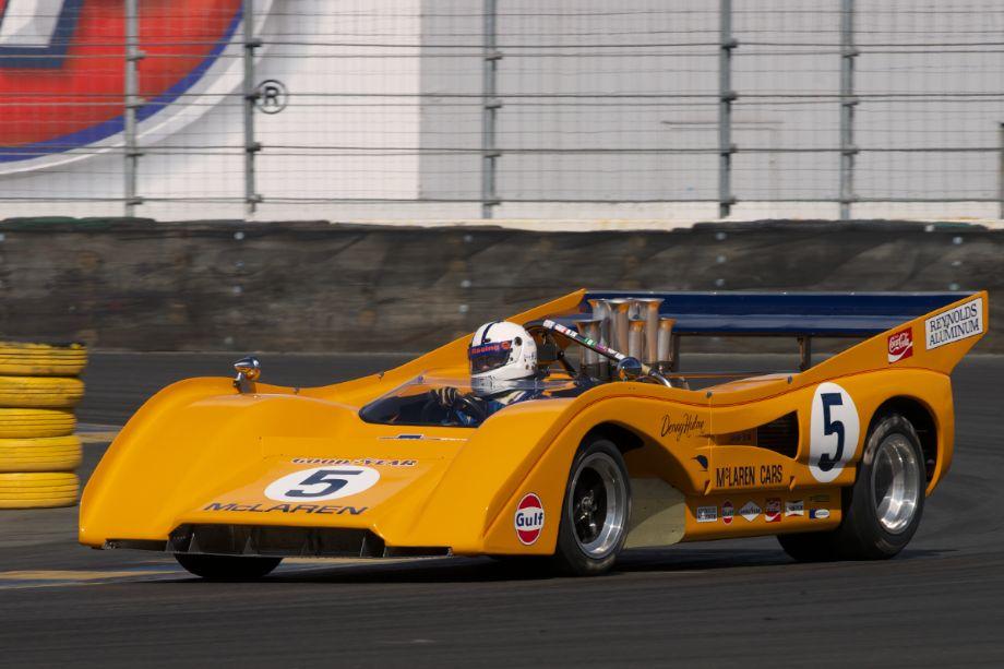 Chris MacAllister in his 1971 McLaren M8F in turn eleven.