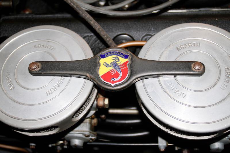 Abarth air cleaners on the Alfa Romeo 1900 C Sprint Pinin Farina Coupe