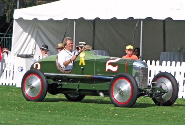Driving on the field is the 1923 Miller Special 122 Supercharged that won Best of Show, Concours de Sport at the 2009 Amelia Island Concours d'Elegance