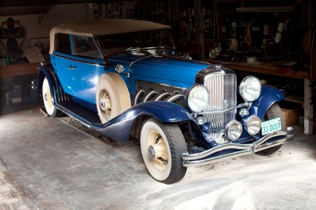 1933 Duesenberg SJ LWB Convertible Berline Barn Find