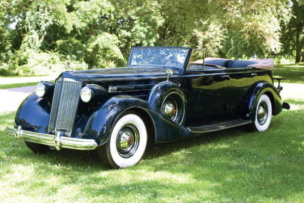 <strong>1937 Packard Twelve 1508 Convertible Sedan – Estimate $350,000 - $425,000</strong>First in class and 100pts at 2007 CCCA Grand Classic in Baltimore; class award winner at 2007 Meadow Brook Concours.