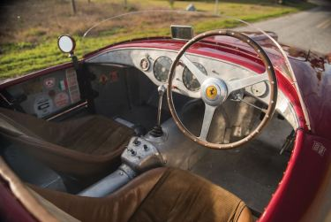 1950 Ferrari 275S-340 America Barchetta Interior (photo: Darin Schnabel)