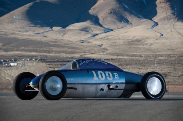 <strong>1951 Tom Beatty Belly Tank Lakester - Estimate $200,000 - $300,000.</strong> Multiple Bonneville record holder; hit 243.438 in 1962, making it the fastest belly tank lakester ever.