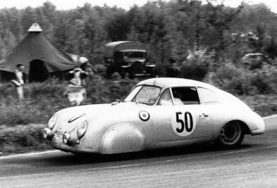 1952 Le Mans Class winner - Porsche 356 SL of Auguste Veuillet and Edmond Mouche