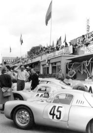 Le Mans 1953: Porsche 550 Coupe with Richard Franenberg and Paul Frere