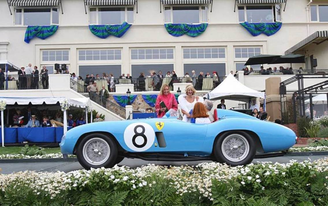 1955 Ferrari 500 Mondial Scaglietti Spider at Pebble Beach