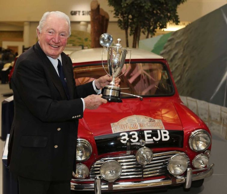 Paddy Hopkirk with Morris Mini Cooper S (photo: Ian Vogler)