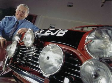 Paddy Hopkirk with Morris Mini Cooper S